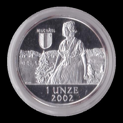 Swiss Liberty Taler - 2002 Neuchâtel