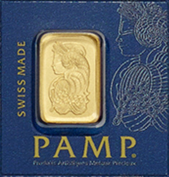 PAMP 1g Goldbarren Suisse Lady Fortuna Veriscan