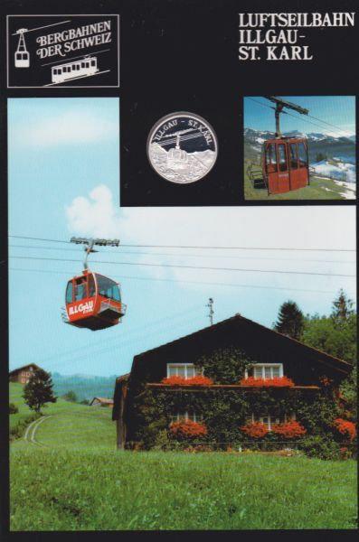Luftseilbahn Illgau St. Karl - Bergbahnen der Schweiz - Silber Medaille