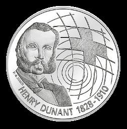 20 Franken Gedenkmünze 2010 Henry Dunant Silber