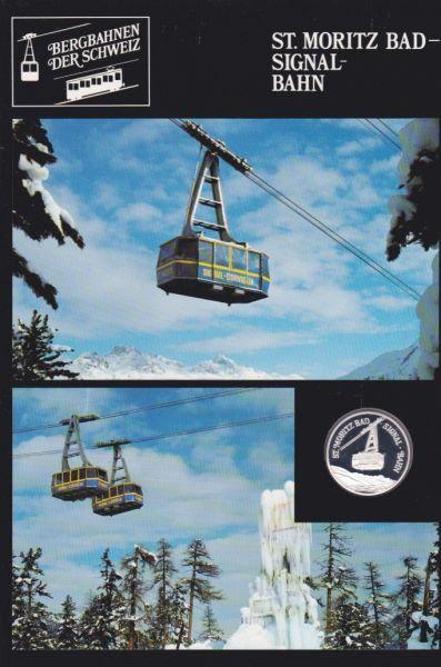 St. Moritz Bad Signal Bahn - Bergbahnen der Schweiz - Silber Medaille