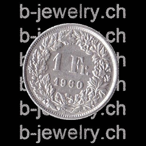 1 Franken 1960 Schweiz Silber Silbermünze