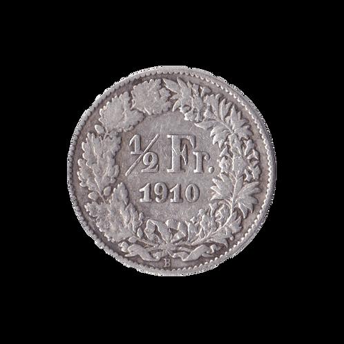 50 Rappen 1910 Schweiz Silber Silbermünze