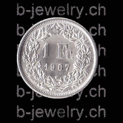 1 Franken 1967 Schweiz Silber Silbermünze