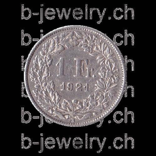 1 Franken 1921 Schweiz Silber Silbermünze