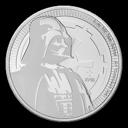 1 oz Silbermünze Darth Vader (Star Wars) 2$ NZ Niue Silber Münze