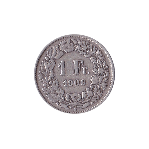 1 Franken 1906 Schweiz Silber Silbermünze