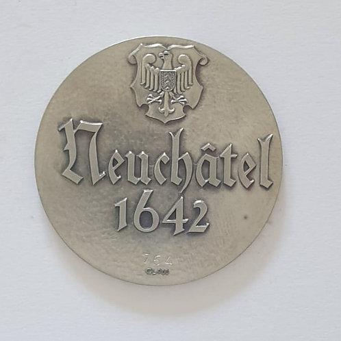 Silbermedaille Neuchâtel 1642