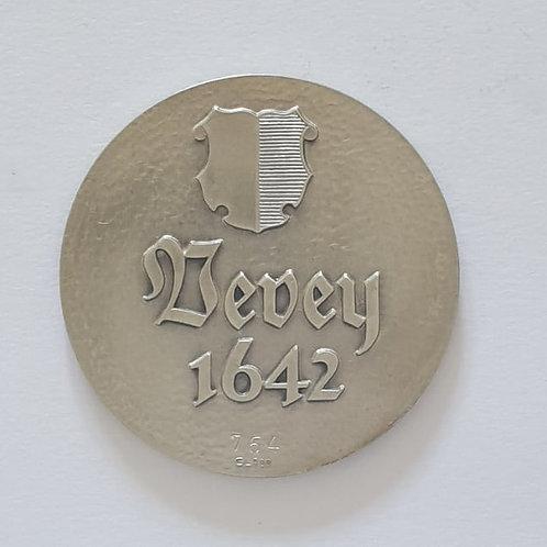 Silbermedaille Vevey 1642