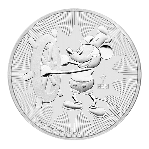 1 oz Silbermünze Steamboat Willie 2$ NZ Niue Silber Münze