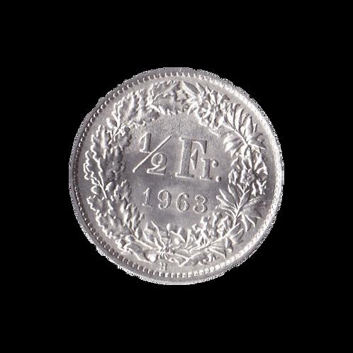 50 Rappen 1963 Schweiz Silber Silbermünze