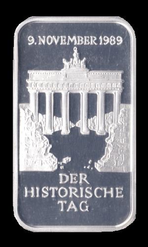 1 oz Der Historische Tag Silberbarren 9. November 1989 Mauerfall 1 Unze