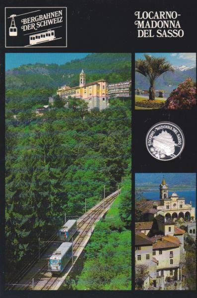 Locarno Madonna Del Sasso - Bergbahnen der Schweiz - Silber Medaille