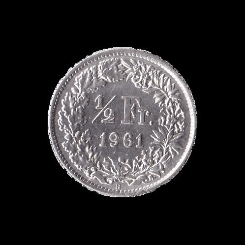 50 Rappen 1961 Schweiz Silber Silbermünze