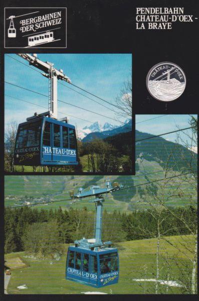 Pendelbahn Chateau D'Oex La Braye  - Bergbahnen der Schweiz - Silber Medaille