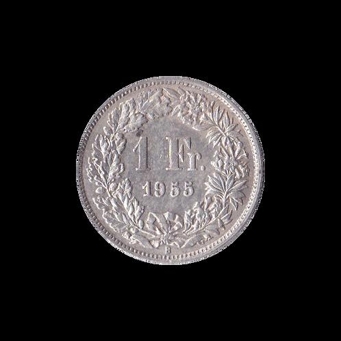1 Franken 1955 Schweiz Silber Silbermünze