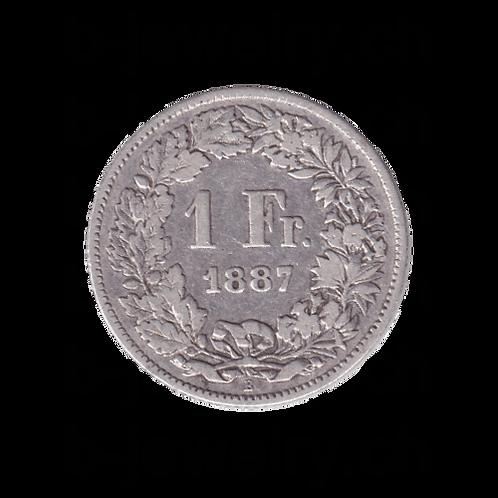 1 Franken 1887 Schweiz Silber Silbermünze