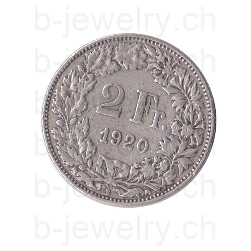 2 Franken 1920 Schweiz Silber Silbermünze