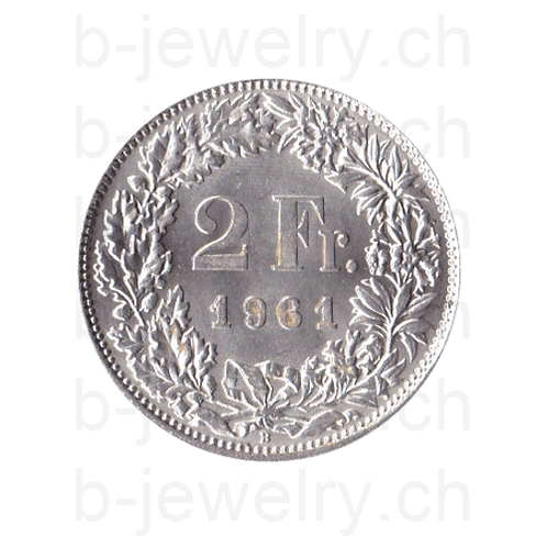2 Franken 1961 Schweiz Silber Silbermünze