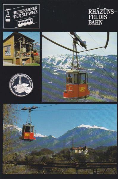 Rhäzüns Feldis Bahn - Bergbahnen der Schweiz - Silber Medaille