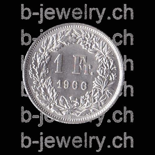 1 Franken 1966 Schweiz Silber Silbermünze