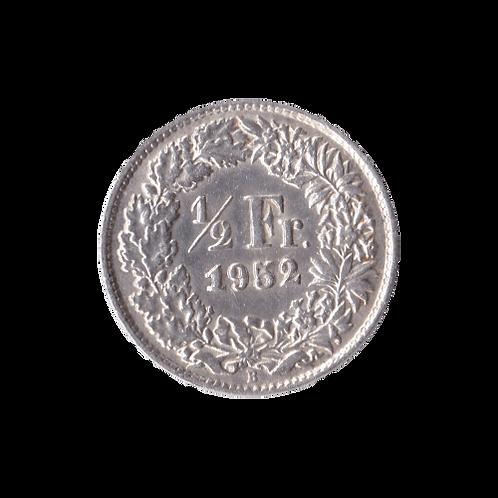 50 Rappen 1952 Schweiz Silber Silbermünze