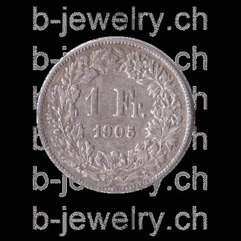 1 Franken 1905 Schweiz Silber Silbermünze