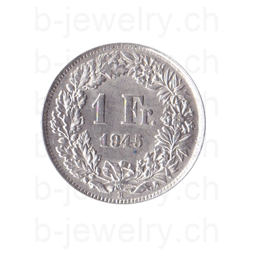 1 Franken 1945 Schweiz Silber Silbermünze