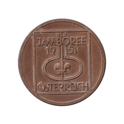 Österreich Jamboree 1951 Baden Powell Medaille Medal