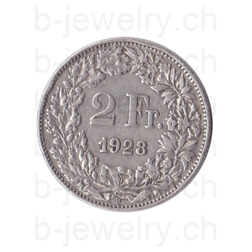 2 Franken 1928 Schweiz Silber Silbermünze