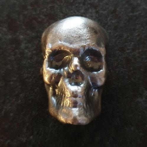 YPS 100g Silberbarren Totenkopf Antique Finish