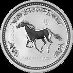 Lunar I - 1 Unze - 2002 Pferd