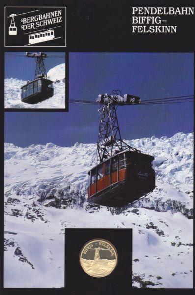 Pendelbahn Biffig Felskinn  - Bergbahnen der Schweiz - Silber Medaille