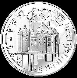 20 Franken Gedenkmünze 2004 Chateau de Chillon Silber
