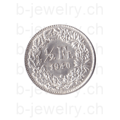 50 Rappen 1940 Schweiz Silber Silbermünze