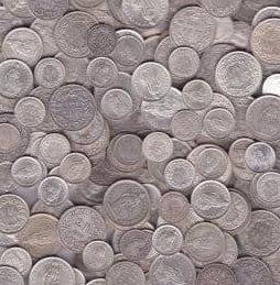 1 kg Schweizer Silbergeld - 1 Kilogramm Schweizer Silbermünzen