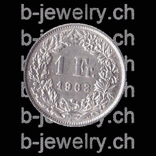 1 Franken 1963 Schweiz Silber Silbermünze