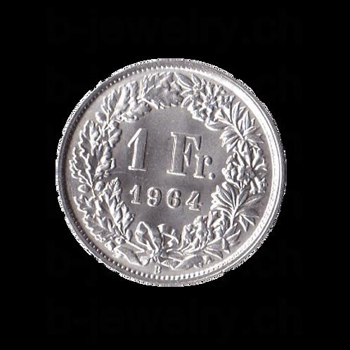 1 Franken 1964 Schweiz Silber Silbermünze
