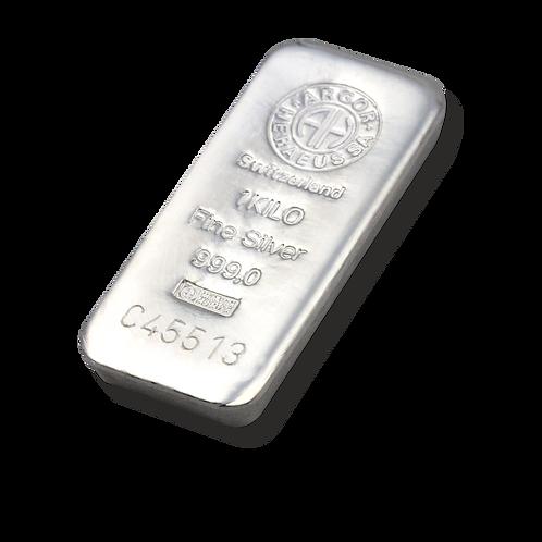 1kg Silberbarren Argor Heraeus 1 Kilogramm