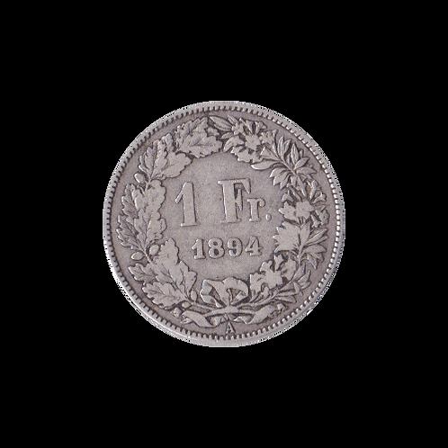 1 Swiss Franc silver 1894