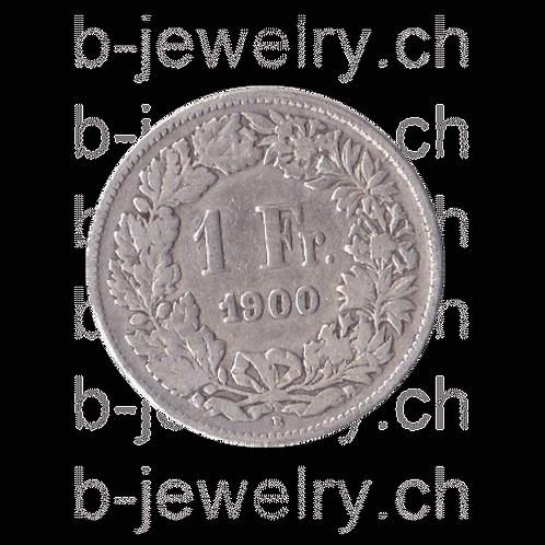 1 Franken 1900 Schweiz Silber Silbermünze