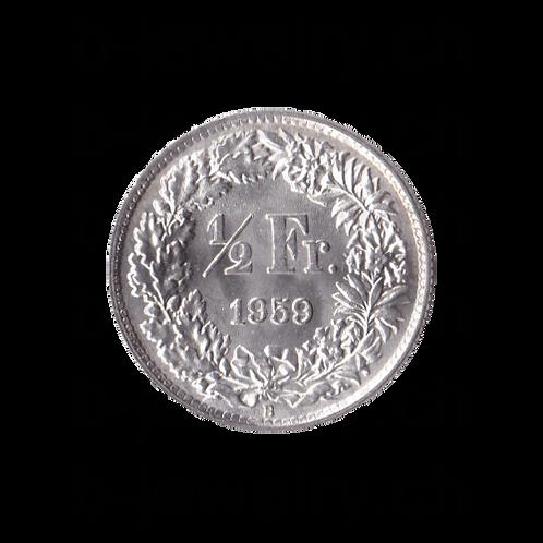 50 Rappen 1959 Schweiz Silber Silbermünze