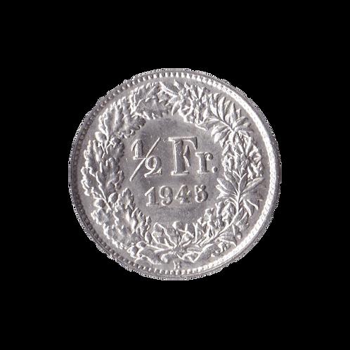 50 Rappen 1945 Schweiz Silber Silbermünze