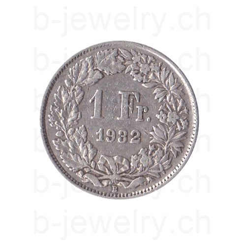 1 Franken 1932 Schweiz Silber Silbermünze