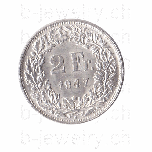 2 Franken 1947 Schweiz Silber Silbermünze