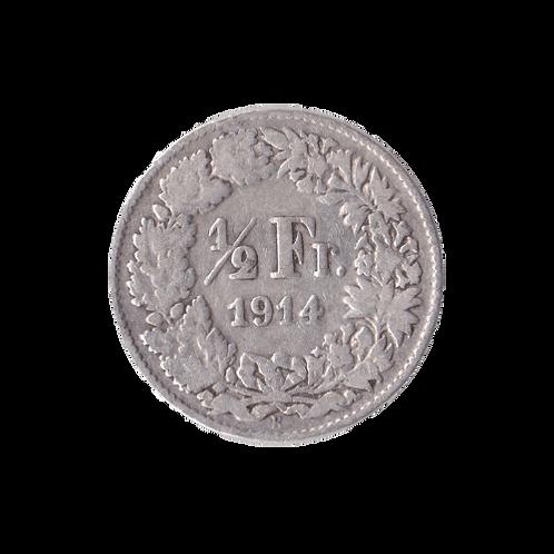 50 Rappen 1914 Schweiz Silber Silbermünze