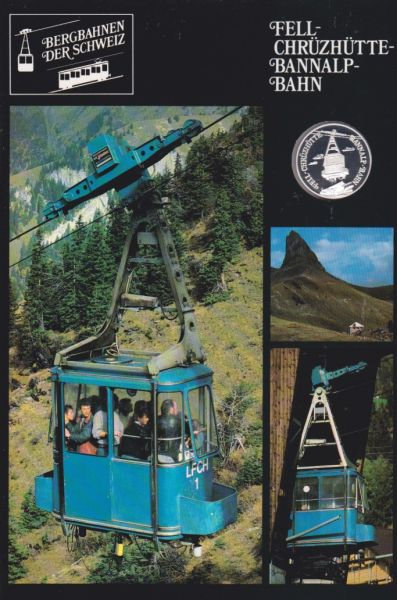 Tell Chrüzhütte Bannalp Bahn - Bergbahnen der Schweiz - Silber Medaille
