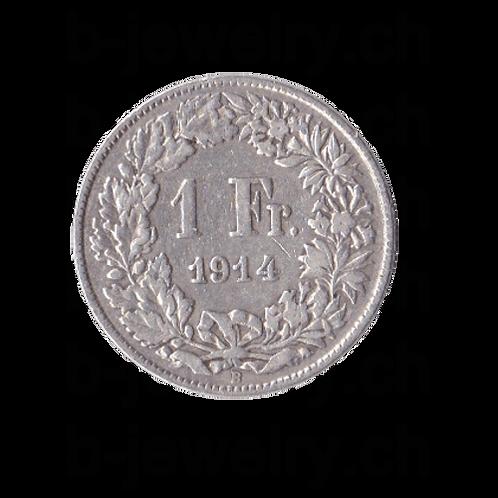 1 Franken 1914 Schweiz Silber Silbermünze