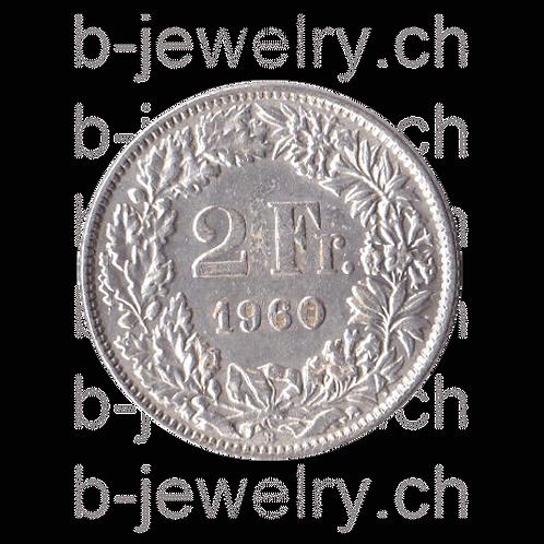 2 Franken 1960 Schweiz Silber Silbermünze
