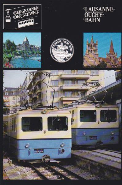 Lausanne Ouchy Bahn - Bergbahnen der Schweiz - Silber Medaille